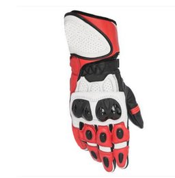 $enCountryForm.capitalKeyWord NZ - SP White Red Sports Airy Motorcycle Racing Gloves Motocross Team Race Long Gloves