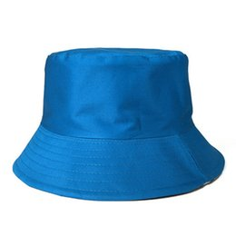 $enCountryForm.capitalKeyWord Australia - Flat Portable Folding Fisherman Hat Korean Candy Color Summer Fishing Fashion Outdoor Simple High Quality Cotton Sunshade Cap LJJJ80