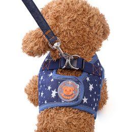 $enCountryForm.capitalKeyWord Australia - Pet Product Cute Soft Puppy Cowboy Dog Harness+Leash Set Cat Chest Pet Walking Fabric High Quality British Style 4 Colors