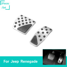 $enCountryForm.capitalKeyWord Australia - Car Brake Foot Rest Pedals Pads Decoration Cover For Jeep Renegade 2016-2017 Car Interior Accessories (Original factory)