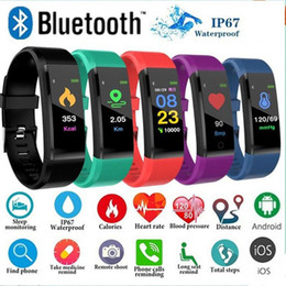 Watch bt online shopping - 115plus Fitness Tracker Smart Bracelet BT Color Display Sports Watch Heart Rate Blood Pressure Monitor Pedometer Step Calorie Counter