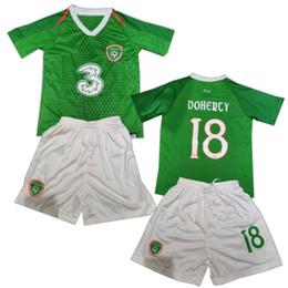 Children S Boys Shirts Australia - 2019 Ireland Kids Kit Top Quality #9 S. LONG #10 BRADY Child Soccer Jersey Boys CLARK WHELAN MURPHY Football Shirts