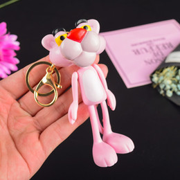 Small hanging bellS online shopping - 2019 Act the role ofing is tasted cute cartoon pink panther key ring the bell auto bags hang a couple small gifts a1549