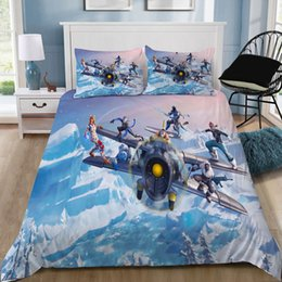 extra long bedding Australia - Game Battle Royale 3D Bedding Set Printed Duvet Cover Set Bed Linens Twin Queen King Size Custom Dropshipping