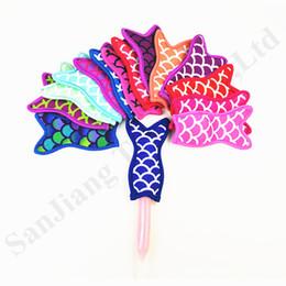 $enCountryForm.capitalKeyWord Australia - Mermaid Shape Neoprene Popsicle Holders Ice Cream Sticks Holder 16*9cm Sublimated Freezer Pop Sleeves Kids Party Summer Kitchen Tools C7904