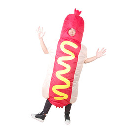 funny adult cartoons NZ - Funny Hot Dog Modeling Inflatable Cosplay Doll Adults Halloween Christmas Inflatable Costumes Festival Props Inflatable Toys