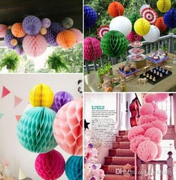 honeycomb decorations wholesale UK - Pink Paper Ball Flower Honeycomb Balls Paper Lantern Baby Shower Birthday Wedding Festive Party Decoration