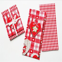 Restaurant Towels Australia - Manufacturers direct Christmas color printing napkin cloth hotel party western restaurant folding tea towel cup towel