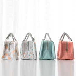 Simple cloth bagS online shopping - Thermal Food Picnic Lunch Bags Simple Easy To Carry Insulated Bento Bag Practical Oxford Cloth Containers With Handle ym WW