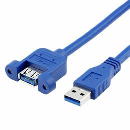 USB3.0 Uzatma Kablosu USB 3.0 Kablosu Erkek Kadın Veri Sync Ile PC Bilgisayar Sabit Disk Için Vida Paneli Dağı Bağlayıcı