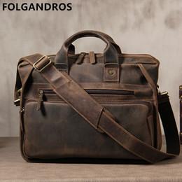 2018 Brand Genuine Leather Men Briefcases Designer Handmade Cowhide Leather  Briefcase 14
