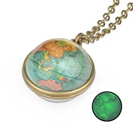 $enCountryForm.capitalKeyWord Australia - 2019 New Globe Double Sided Necklace Planet Earth World Map Pendant Glass Cabochon Necklaces Hand Craft Jewelry