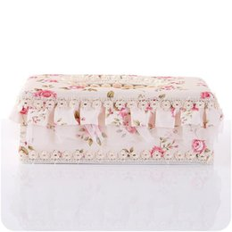 eco friendly towels UK - Tissue Box Countryside Lace Fabric Art Eco Friendly Napkin Case Home Furnishing Car Paper Towel Holder Table Decor 5 4yj ff
