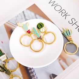 $enCountryForm.capitalKeyWord Australia - Free DHL Cactus Charm Keychain Pendant Durable Key Ring Plant Fashionable Jewelry Key Chains Rings Accessory For Keys Purse Bag D328Q Y