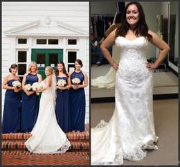 White Ivory Applique Lace With Beading Mermaid Wedding Dress Bandage  Dropped Bridal Dress Robe De Mariage Vestido De Noiva 217167a56c48