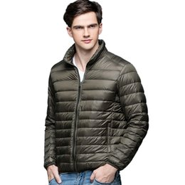 $enCountryForm.capitalKeyWord NZ - New Autumn Winter Man Duck Down Jacket Ultra Light Thin Plus Size Spring Jackets Men Stand Collar Outerwear Coat Solid color size S-3XL