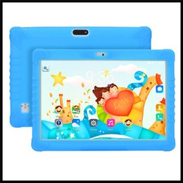Brand Dual Core Tablet Australia - OEM Kids Brand High quality 10 inch kid MTK6580 IPS capacitive touch screen dual sim 3G kid children tablet phone pc google play android 7.0
