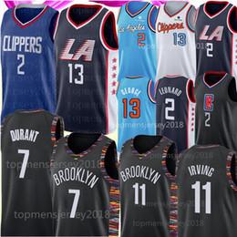 NCAA Kawhi 2 Leonard Jersey 7 camisa Kevin Durant Paul 13 George Kyrie Mens Irving jerseys Universidade 2019 Basquete Tamanho S-XXL venda por atacado