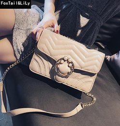 Threaded Pearls Australia - Factory brand women bag small fresh pearl chain bag fashionable embroidery thread leather shoulder strap shoulder bags leather shoulder bag