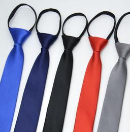 Vente en gros Cravate Pour Hommes Slim Étroite Cravate Paresseuse Facile À Tirer Corde Cravate Style Coréen Rayé Dots De Noce # LLD01