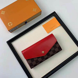 Coin Boxes Australia - free shpping Wholesale red bottoms lady long wallet multicolor designer coin purse Card holder original box women classic zipper pocket60232