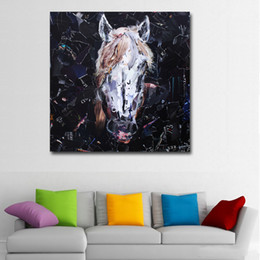 horses painting frame 2019 - 1 Pcs Abstract Art Prints Painting Abstract Horse Head Pictures Wall Art Animal Printed Painting For Living Room Wall De