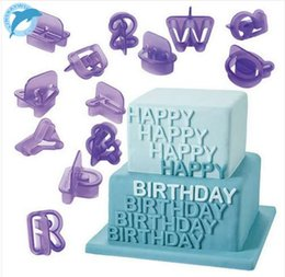Letter Cutters Australia - LINSBAYWU 40Pc Cake Decorations Tools Alphabet Letter Number Fondant Cake Biscuit Baking Cookie Cutters Mold