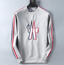 $enCountryForm.capitalKeyWord Australia - 2019 New Fashion designer hoodie for men casual round neck long-sleeved slim sweater men's striped badges decorative tops