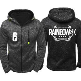 Discount rainbow hoodies - Rainbow Six Siege Men Sports Casual Wear Hoodies Zipper Fashion Tide Jacquard Fall Sweatshirts Spring Autumn Jacket Coat