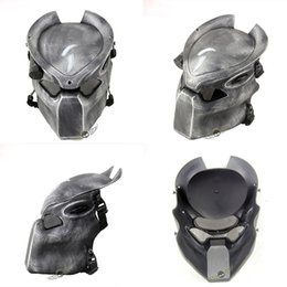 full face alien mask Australia - Alien Vs Predator Lonely Wolf Mask With lamp Outdoor Wargame Tactical Mask Full Face CS Mask Halloween Party SH190922
