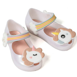 $enCountryForm.capitalKeyWord NZ - Melissa Unicorn Shoes New Winter Jelly Shoe Mini Dargon Sandals Fish Mouth Girl Non-slip Kids Sandal Toddler Q190601