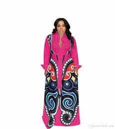 bb5f05c5540 Роза красная Большой Свинг Платья с Африканским Принтом Женская Одежда Плюс  Размер Сексуальная Элегантное Платье с Принтом Бабочки Халат Африканский  Дизайн ...
