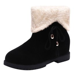 e99a41bd817f Ankle Boots for Women Snow Boots Winter Shoes Warm Fur Platform Red Color  Wedge zapatos de mujer Ankle Snow Shoes Women Winter