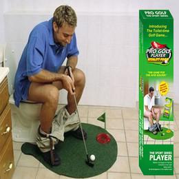 Mini Golf Games Australia - Toilet Golf Putter Set Bathroom Game Mini Golf toliet Putting Novelty - Play Golf in the Bathroom Accessories Sets