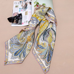 "silk twill scarves Australia - High Style 100% Silk Twill Scarf Shawl Women Square Silk Scarf Foulard Head Scarves Hijab 35"" X 35"""