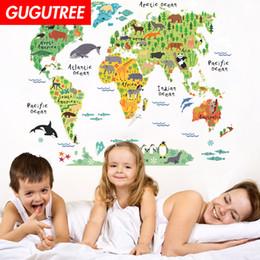 $enCountryForm.capitalKeyWord Australia - Decorate Home world map cartoon art wall sticker decoration Decals mural painting Removable Decor Wallpaper G-1955