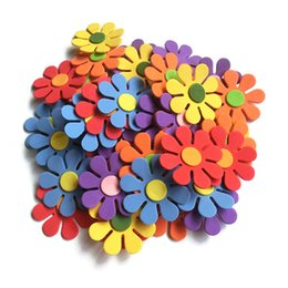 foam sticker crafts UK - Children Kids 3D Art EVA Foam Wall Stickers Mixed Pattern DIY Cartoon Flower Puzzle Toys Early Learning Education Decor Crafts