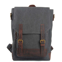 Styles Backpacks Australia - Fashion Europe and America style Genuine Leather canvas hicking outdoor sport backpack waterproof travel school bag leisure outdoor backpack
