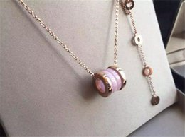 $enCountryForm.capitalKeyWord NZ - Fashion Ceramic Pendant Necklaces Men Women Luxury Design 18K Rose Gold Plated Chains Necklace Quality Titanium Steel Necklaces