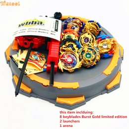 beyblade shipping 2019 - Gold style Beyblade Burst Toy With Launcher Starter and Arena Bayblade Metal Fusion God Spinning Top Bey Blade Toy Drop
