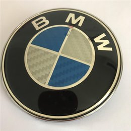 $enCountryForm.capitalKeyWord Australia - BLUE 74mm CARBON FIBER BMW LOGO EMBLEME For REAR & Trunk Replacement with 2 Pins
