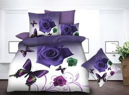 $enCountryForm.capitalKeyWord Australia - BEST.WENSD 100% Superfine fiber jacquard duvet cover set 3d Rose flower Wedding bed sheets and pillowcases bedding set luxury
