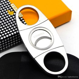 $enCountryForm.capitalKeyWord NZ - New Arrival Genuine Article COHIBA Brand New Stainless Steel Metal Classic Cigar Cutter Guillotine with Gift Box