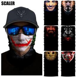 Wolf face mask online shopping - 3D Marvel Ciclismo Bandana Homme Wolves Joker Half Face Mask UV Quick Dry Scaldacollo Outdoors Halloween Tube Bandana Bike Masks