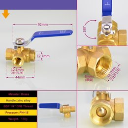 "$enCountryForm.capitalKeyWord Australia - 3 Way T-PORT Mini Brass Ball Valve 1 4"" BSP DN8 For Water ,Gas,Steam,Corrosion,Acid and Alkali"