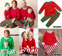 Father Daughter Pajamas NZ - Family Christmas Pajamas New Year Family Matching Outfit Mother Father Kids Clothes Stripe Printed Pajamas 2pcs Sets Nighty DHL Freely