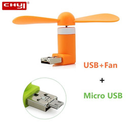 micro fans Australia - CHYI Mini Summer Cooler Gadgets Wireless Small Usb Fan 2 In 1 Combo Electric Ventilador Micro Accessories For Phone Computer PC