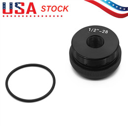 "1 2""-28 Maglite D Cell Thread Adapter Tail End Cap Black, Free & Fast USPS Shipping From US STOCK on Sale"