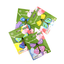 Flying Prop Toy Australia - Free shipping Flying butterfly Creative magic butterfly New exotic stress reliever toy Bookmark Magic prop toy