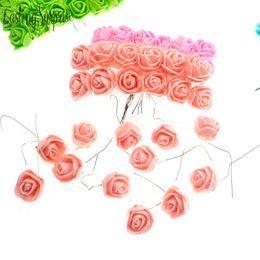 $enCountryForm.capitalKeyWord Australia - 144pcs Artificial Foam Roses Multi Color Fake Flower For Wedding Home Party Decoration & Wedding Car Corsage Decoration